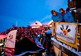 Ski-Boarderweek_Unterkunft in PistennÑhe_Balkonblick_Val_Thorens