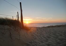 Über die Düne zum Strand Seignosse