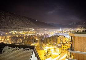 AUssicht vom Haus über Davos