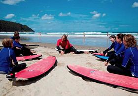SurfkursTheorie am Beach