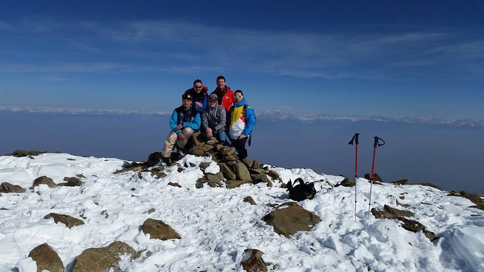 Gruppe auf 4200 Höhenmeter