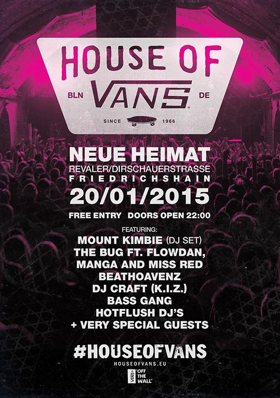 House of Vans Berlin 2015 Flyer