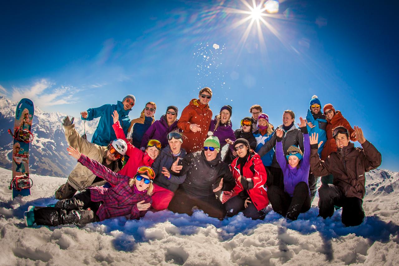 White Delight Mayrhofen Gruppenfoto