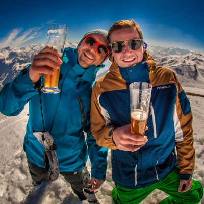 Bierchen, Berge und Sonnenschein