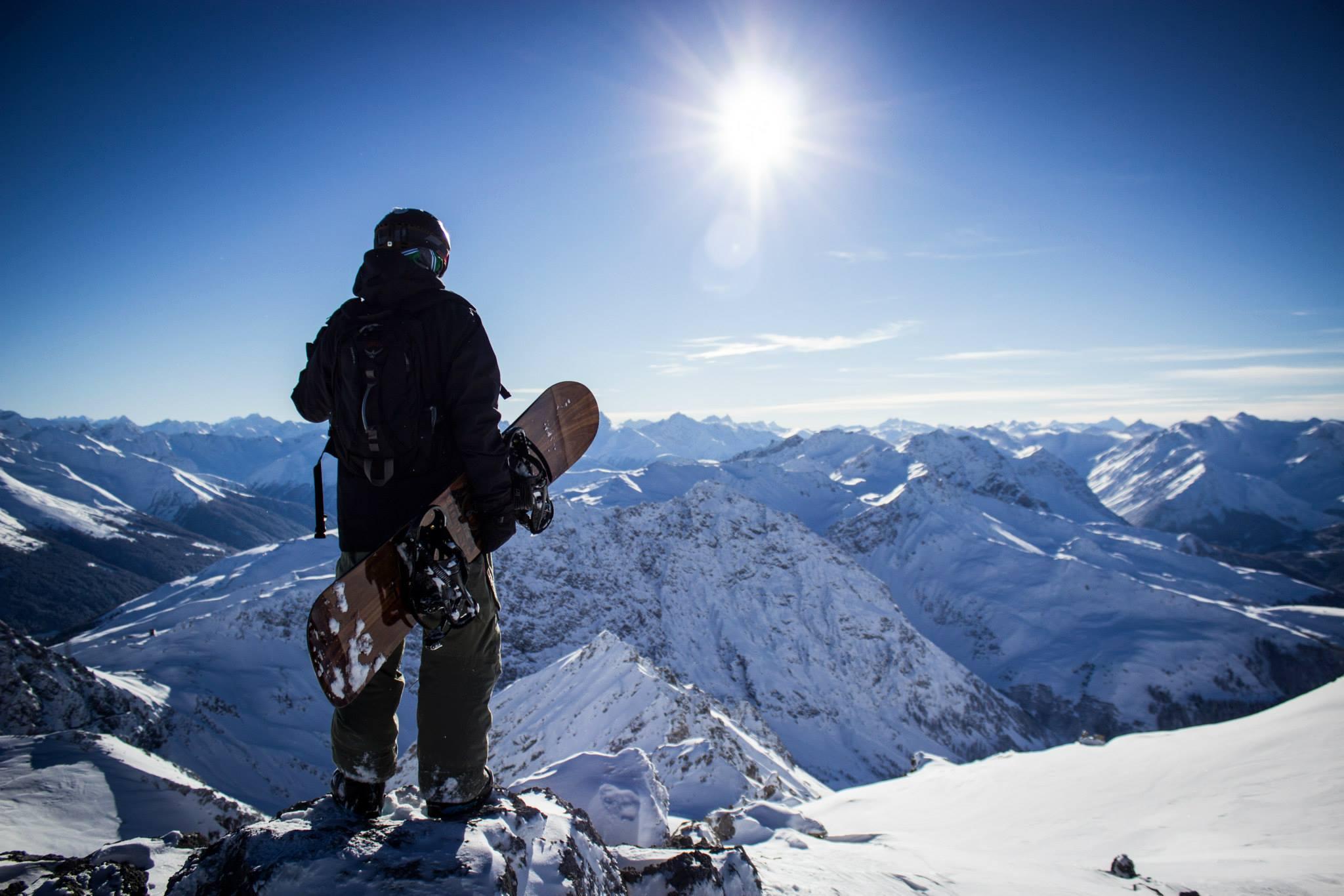Davos Ausblick über die Berge