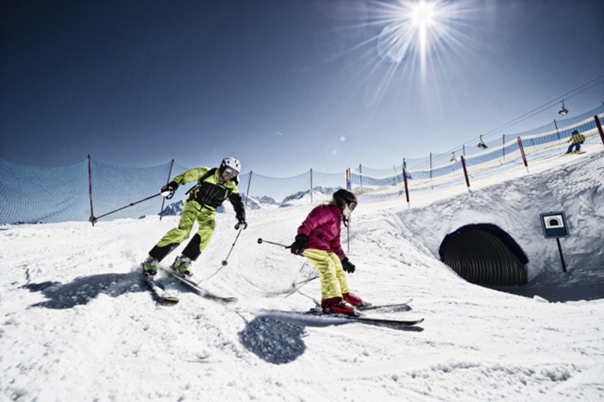 Montafon Skifahrer