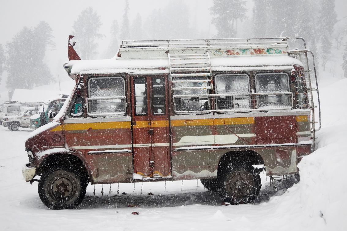 Autobus in Gulmarg