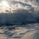 Skiort Gudauri von oben