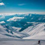 Ski und Snowboard Freeride Abfahrt